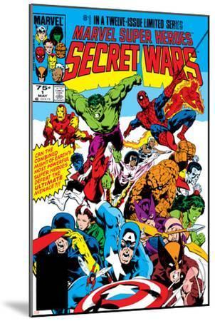 Secret Wars No.1 Cover: Captain America-Mike Zeck-Mounted Art Print