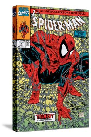 Spider-Man No.1 Cover: Spider-Man-Todd McFarlane-Stretched Canvas Print