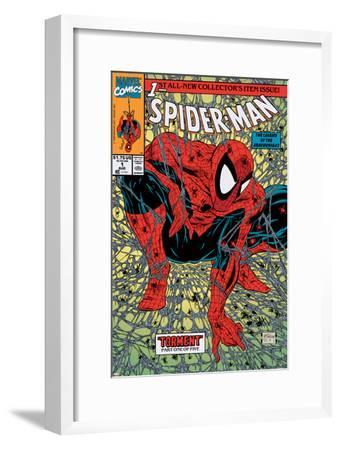 Spider-Man No.1 Cover: Spider-Man-Todd McFarlane-Framed Art Print