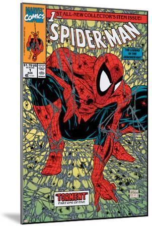 Spider-Man No.1 Cover: Spider-Man-Todd McFarlane-Mounted Art Print