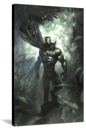 Black Panther No.35 Cover: Black Panther-Dave Wilkins-Stretched Canvas Print