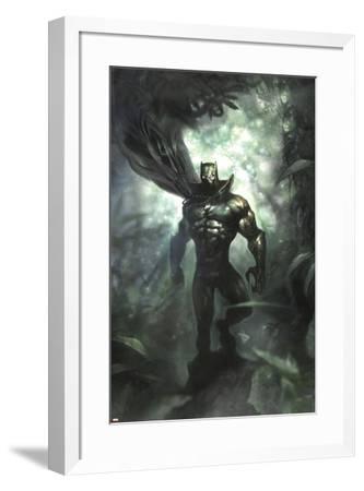 Black Panther No.35 Cover: Black Panther-Dave Wilkins-Framed Art Print