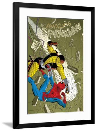 The Amazing Spider-Man No.579 Cover: Spider-Man and Shocker-Marcos Martin-Framed Art Print