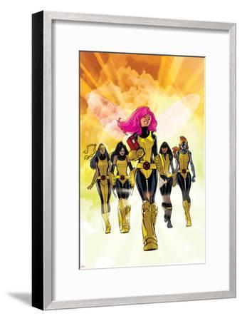 X-Men: Pixie Strikes Back No.1 Cover: Pixie, X-23, Blindfold, Armor and Mercury-Stuart Immonen-Framed Art Print