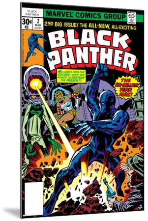 Black Panther No.2 Cover: Black Panther, Princess Zanda and Hatch-22 Charging-Jack Kirby-Mounted Art Print
