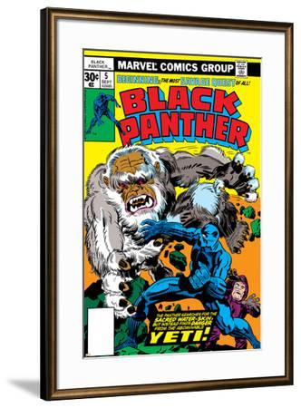 Black Panther No.5 Cover: Black Panther-Jack Kirby-Framed Art Print