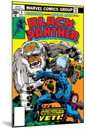 Black Panther No.5 Cover: Black Panther-Jack Kirby-Mounted Art Print