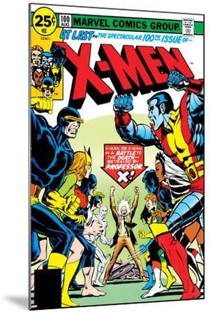 Marvel Comics Retro: The X-Men Comic Book Cover No.100, Professor X--Mounted Art Print