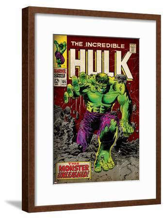 Marvel Comics Retro: The Incredible Hulk Comic Book Cover No.105 (aged)--Framed Art Print