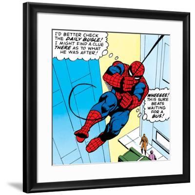 Marvel Comics Retro: The Amazing Spider-Man Comic Panel--Framed Art Print
