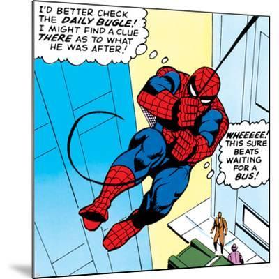 Marvel Comics Retro: The Amazing Spider-Man Comic Panel--Mounted Art Print