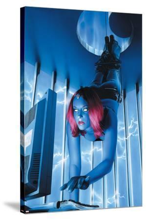 Mystique No.18 Cover: Mystique--Stretched Canvas Print