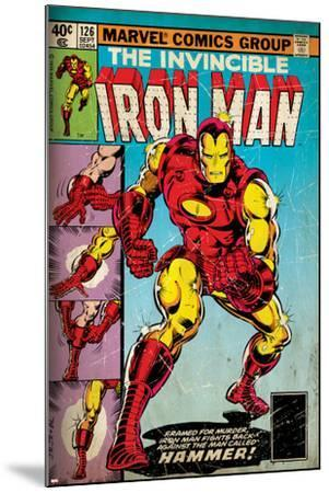 Marvel Comics Retro: The Invincible Iron Man Comic Book Cover No.126, Suiting Up for Battle (aged)--Mounted Art Print