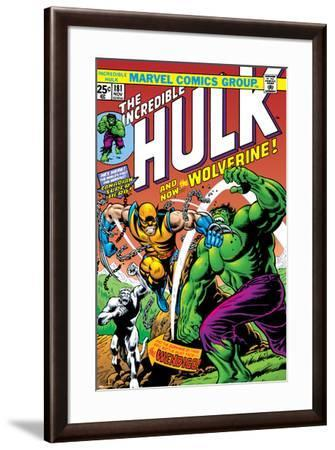 Marvel Comics Retro: The Incredible Hulk Comic Book Cover No.181, with Wolverine and the Wendigo--Framed Art Print