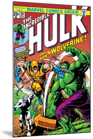 Marvel Comics Retro: The Incredible Hulk Comic Book Cover No.181, with Wolverine and the Wendigo--Mounted Art Print