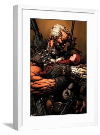 Uncanny X-Men No.493 Cover: Cable-David Finch-Framed Art Print