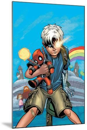 Cable/Deadpool No.18 Cover: Cable-Patrick Zircher-Mounted Art Print