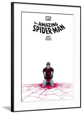 The Amazing Spider-Man No.655 Cover: Spider-Man Kneeling-Marcos Martin-Framed Art Print