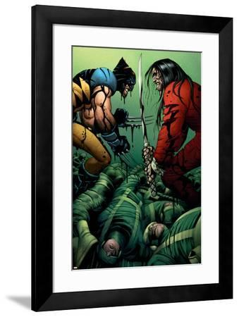 Wolverine No.31 Cover: Wolverine and Gorgon--Framed Art Print