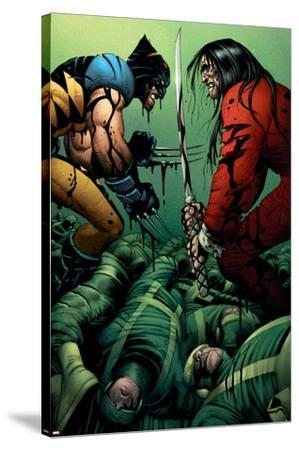 Wolverine No.31 Cover: Wolverine and Gorgon--Stretched Canvas Print