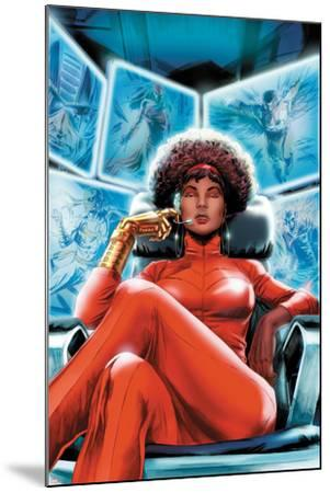 Heroes for Hire No.4 Cover: Misty Knight Sitting-Doug Braithwaite-Mounted Art Print