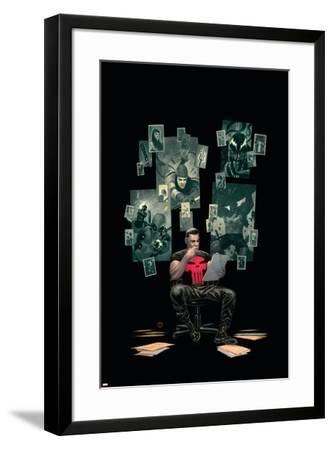 Thuderbolts #12 Cover: Punisher, Venom, Elektra, Deadpool, Red Hulk-Julian Totino Tedesco-Framed Art Print