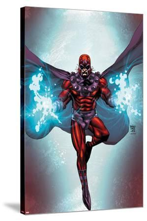 Magneto No.1 Cover: Magneto Flying-Roger Cruz-Stretched Canvas Print