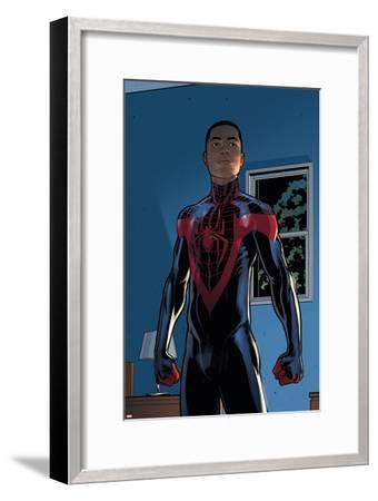 Ultimate Comics Spider-Man #28 Featuring Spider-Man, Miles Morales-David Marquez-Framed Art Print