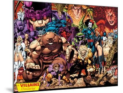 X-Men No.1: 20th Anniversary Edition: A Villains Gallery-Jim Lee-Mounted Art Print