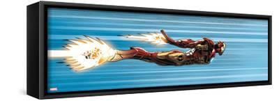 Avengers Assemble Panel Featuring Iron Man--Framed Stretched Canvas Print