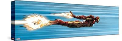 Avengers Assemble Panel Featuring Iron Man--Stretched Canvas Print