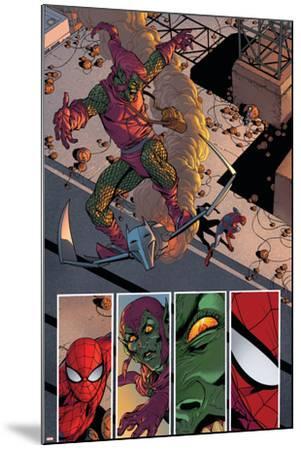 Superior Spider-Man #31 Featuring Spider-Man, Green Goblin-Giuseppe Camuncoli-Mounted Art Print