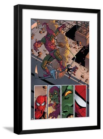 Superior Spider-Man #31 Featuring Spider-Man, Green Goblin-Giuseppe Camuncoli-Framed Art Print