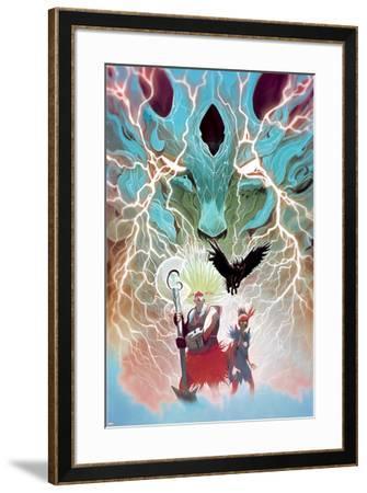Weirdworld No. 5 Cover Featuring: Ogeode the Catbeast, Goleta the Wizardslayer, Becca the Earthgirl-Mike Del Mundo-Framed Art Print