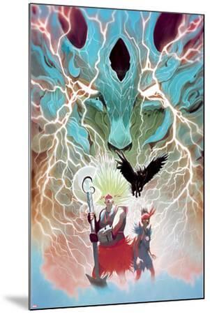 Weirdworld No. 5 Cover Featuring: Ogeode the Catbeast, Goleta the Wizardslayer, Becca the Earthgirl-Mike Del Mundo-Mounted Art Print