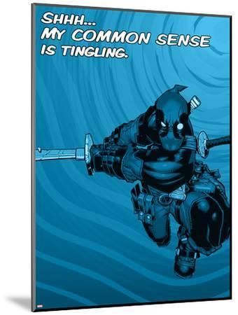 Deadpool - Common Sense--Mounted Art Print