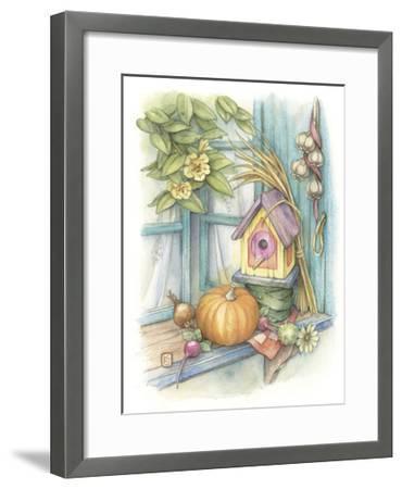 Harvest Birdhouse-Kim Jacobs-Framed Giclee Print