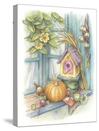 Harvest Birdhouse-Kim Jacobs-Stretched Canvas Print