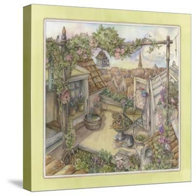 Rooftop Garden-Kim Jacobs-Stretched Canvas Print