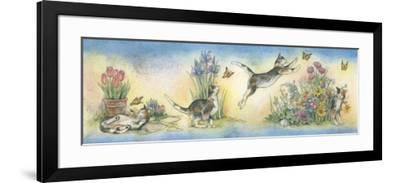 Cat and Butterfly-Kim Jacobs-Framed Giclee Print