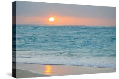 Sunset in Paradise over the Caribbean and on a Beach-Mike Theiss-Stretched Canvas Print