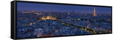 A Panoramic View of the City of Paris, France-Stephen Alvarez-Framed Stretched Canvas Print