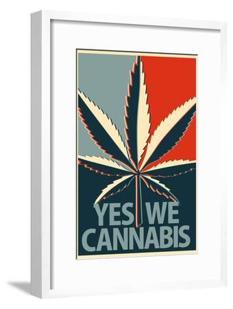 Yes We Cannabis Marijuana--Framed Art Print