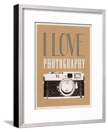 I Love Photography Poster--Framed Art Print