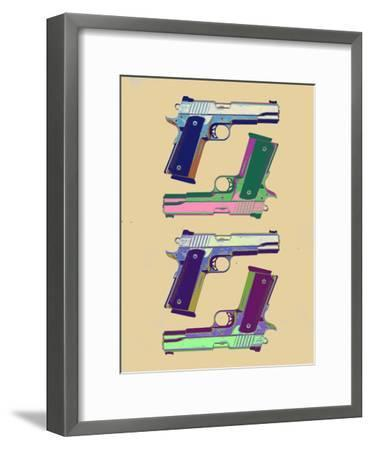 Guns Amber Pop Art Poster--Framed Art Print