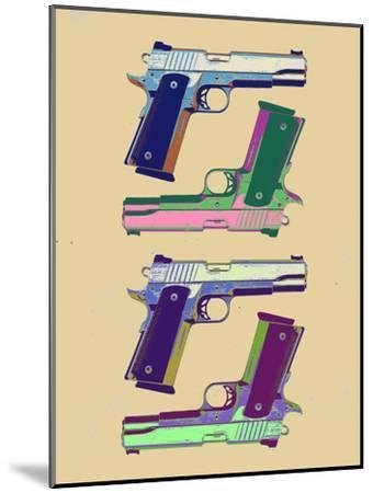Guns Amber Pop Art Poster--Mounted Art Print