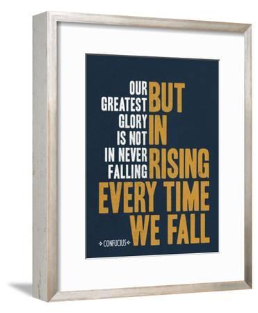 Our Greatest Glory Confucius Quote--Framed Art Print
