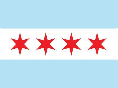 Chicago City Flag Poster Print--Framed Art Print