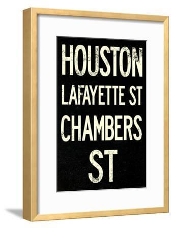 New York City Houston Chambers Vintage RetroMetro Subway Poster--Framed Art Print