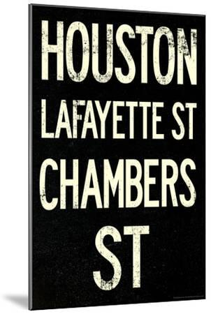 New York City Houston Chambers Vintage RetroMetro Subway Poster--Mounted Art Print